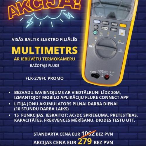 Akcija-Multimetrs ar iebūvētu termokameru.