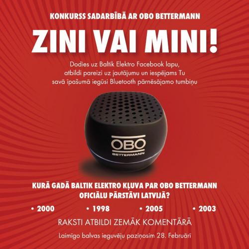 Konkurss sadarbībā ar OBO Bettermann