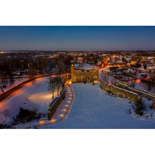 Baltik Elektro Gaisma izgaismo Dobeles pils kapelu