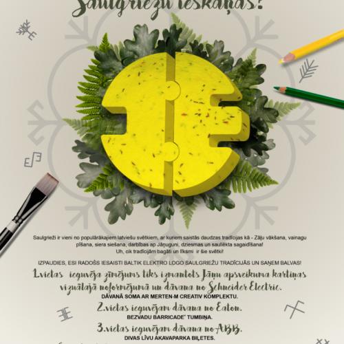"""Bērnu zīmējumu konkurss! """"Uzzīmē Baltik Elektro logo Saulgriežu ieskaņās!''"""