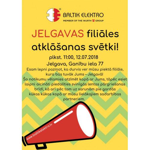 Ar prieku, lepnumu un gandarījumu paziņojam, ka ar jūniju veram vaļā mūsu piekto filiāli Latvijā – Jelgavā!