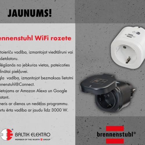 Jaunums no Brennenstuhl – WIFI rozete