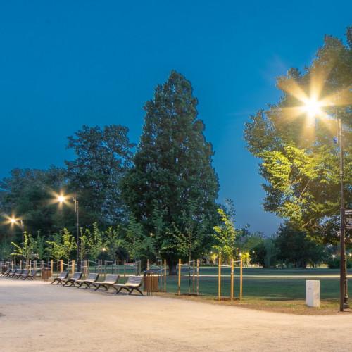 Ķemeru parka izgaismošana